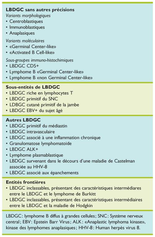 lymphome b pronostic