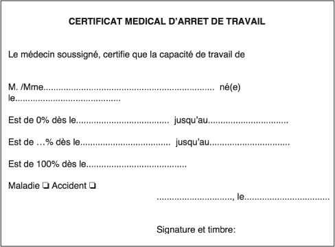 Certificat Medical D Arret De Travail Et Certificat Medical De Bonne