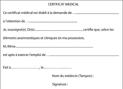 Modele certificat medical repos